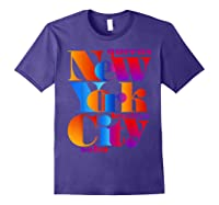New York City T Shirt Urban Nyc Fashion Style T Shirt Nyc T Shirt Purple