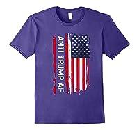 Anti Trump Impeach The 45th President T Shirt Purple