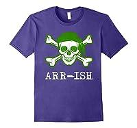 Funny Arrish Sugar Skull St Saint Patricks Day Shirts Gift Purple