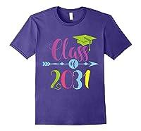 Class Of 2031 Grow With Me Kindergarten Graduate Gift T-shirt Purple