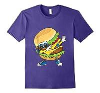 Cool Dabbing Burger Funny Street Dancer Hamburger Lover Gift Tank Top Shirts Purple