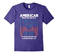 American Wealthcare Act Impeach Trump T Shirt Purple
