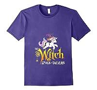 Unicorn Pony This Witch Is Spook Tacular Cute Girls Kawaii Shirts Purple
