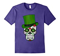 Sugar Skull St Patrick S Day T Shirt Saint Patty S Day Gift Purple