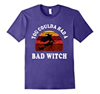 You Coulda Had A Bad Witch Vintage Custom Gift Halloween Shirts Purple