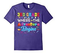 3rd Grade Where The Adventure Begins Third Back To Shirts Purple