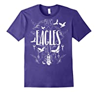 Fly Eagles Fly Funny Sport And Wildlife Animal Back Print Shirts Purple