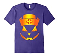 Scary Halloween T Shirt For Nurses Purple