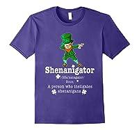 Saint Paddy S Dabbing Shenanigator St Patrick S Day T Shirt Purple