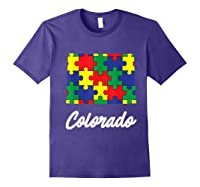 Autism Awareness Day Colorado Puzzle Pieces Gift Shirts Purple