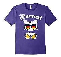 Oktoberfest Prost Purrost Funny Pun Purrost Cat Beer 2019 T-shirt Purple