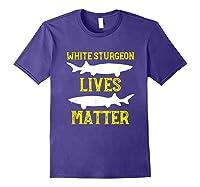 Sturgeon Fishing Shirt Fish T-shirt Gift Purple