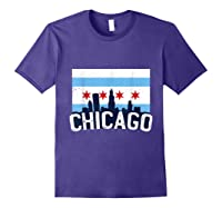 Chicago Flag Skyline Shirt Chi Town Pride City Flag Gift T Shirt Purple