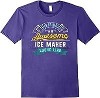 Funny Ice Maker Shirt Awesome Job Occupation Graduation T-shirt Purple
