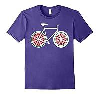 Fixie Single Speed Watermelon Bicycle T Shirt Gift Purple