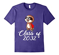 Sloth Class Of 2032 Back To School Gift Shirts Purple
