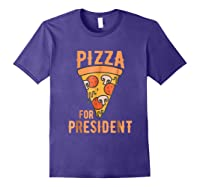 Impeach Trump Pizza For President Pizza Lovers T Shirt Purple