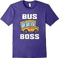 Funny Bus Boss School Bus Driver T-shirt Job Career Gift Purple