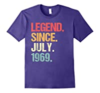 Legend Since July 1969 T Shirt Vintage 50th Birthday Gifts Purple