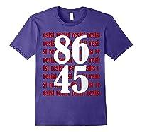 Impeach 45 Anti Trump 8645 Tshirt Purple