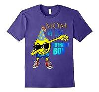 Cool Dancing Dabbing Emoji Mom Of Birthday Boy Party Shirts Purple