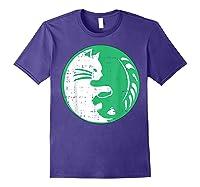 Area 51 Alien Cat Yin Yang Easy Lazy Kitten Halloween Gift Shirts Purple
