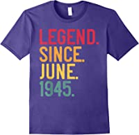 Legend Since June 1945 76th Birthday 76 Years Old Vintage T-shirt Purple