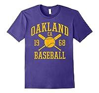 Oakland Baseball Vintage Oak Pride Retro Distressed Gift Shirts Purple