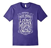 Fighting Squad Lung Cancer Awareness T-shirt Purple