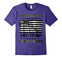 Pro America Anti Trump 4th Of July Impeach Trump T Shirt Purple