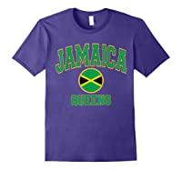 Ny Varsity Style N Flag Circle T Shirt Purple