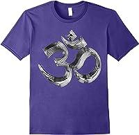Om Yoga Chrom Zeichen   Buddha Vishnu Liebe Schwarz Weiß T-shirt Purple