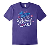 Happy Veteran's Day Patriot Military Memorial Gift Tee Premium T-shirt Purple