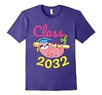 Kindergarten First Day Back To School Girl Shirts Purple