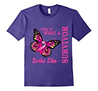 This Is What A Survivor Looks Like Breast Cancer Awareness T Shirt Purple