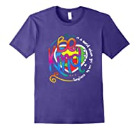 In A World Where You Can Be Anything Be Kind Autism Premium T-shirt Purple