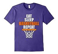 Eat Sleep Basketball Repeat For Basketball Fans Shirts Purple