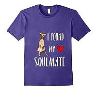 I Found My Soulmate Italian Greyhound Dog Lover Best Friend T-shirt Purple
