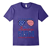 All American Mom 4th Of July Sunglasses Matching Family Tank Top Shirts Purple