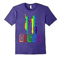1970s Disco Dancers Vintage Rainbow 1970's Gift Shirts Purple
