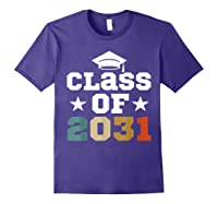 Vintage First Grade 2019 Class Of 2031 Apparel Grow With Me Shirts Purple