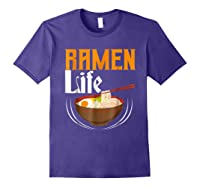 Ra Life Tasty Anime Noodle Bowl Shirts Purple