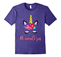Mamacorn T Shirt Cute Funny Unicorn Gift For Mothers Day Mom Purple