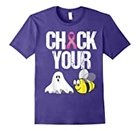 Check Your Boo Bees Shirt Funny Breast Cancer Halloween Gift Purple