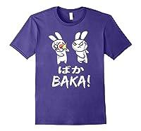 Anime Japanese Baka Rabbit Slap Manga T Shirt Gift Funny T Shirt Purple