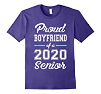 Proud Boyfriend Of 2020 Senior Graduation T-shirt For Family Purple