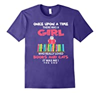 Once Upon A Time There Was A Girl Who Really Loved Books Premium T Shirt Purple