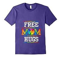 Free Mom Hugs Cute Flower Pride Lgbt Month 2019 Gift Shirts Purple