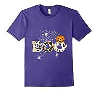 Halloween Boo Breast Cancer Awareness Pumpkin Month T Shirt Purple