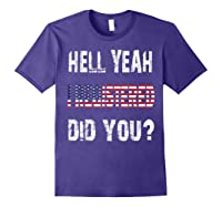 Registration Day Register To Vote Us Election Gift T Shirt Purple